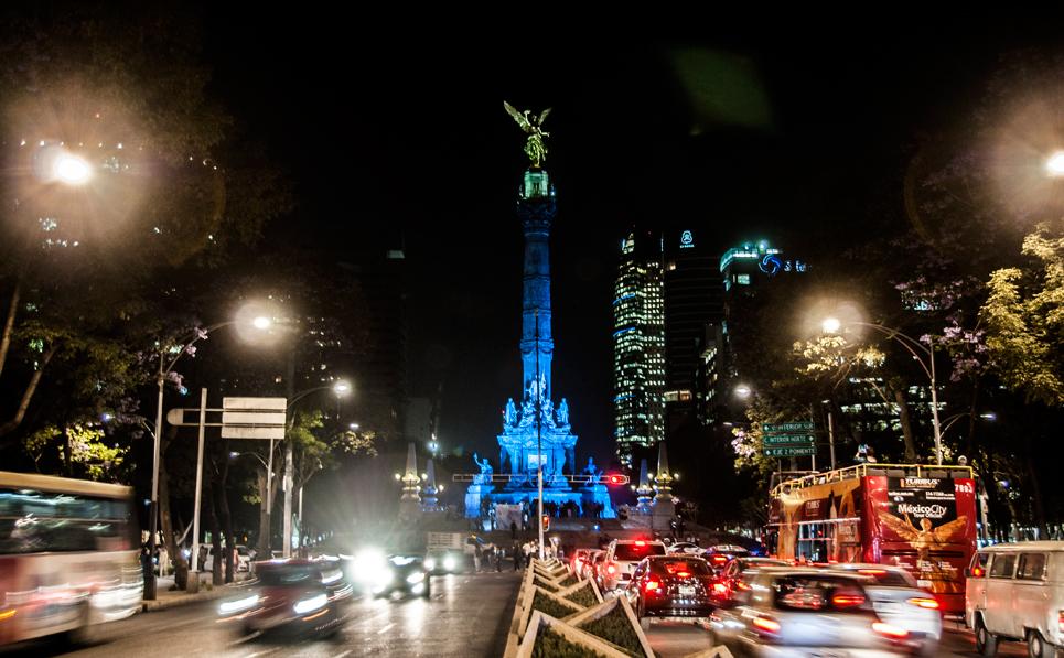 Vista de Reforma, Ciudad de México. Imagen de Excélsior.